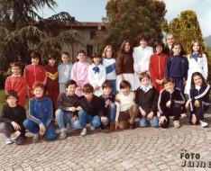 1983 quinta elementare vezzano