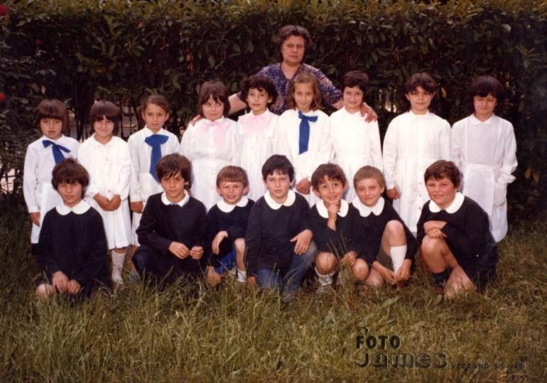 1981 seconda elementare vezzano