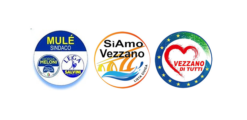 simboli liste comunali vezzano 2019