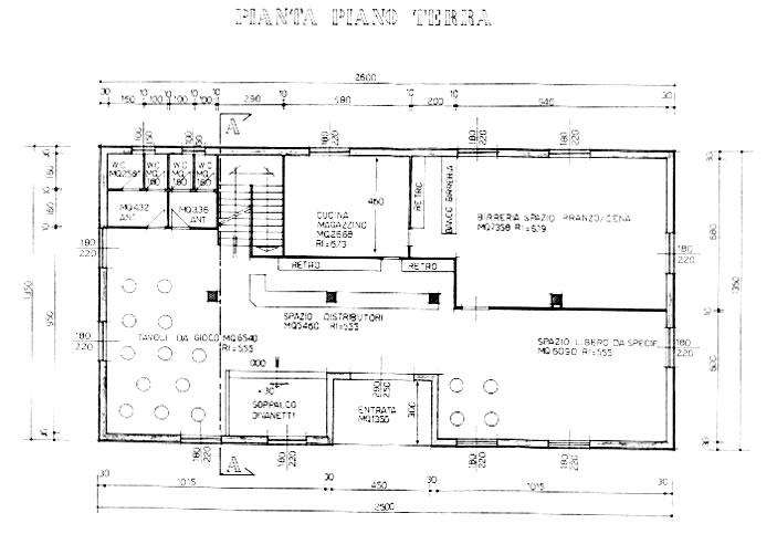 Il progetto del centro sociale for Progetto piano terra